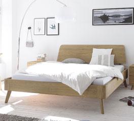 Hochwertiges und robustes Eichenbett Teko