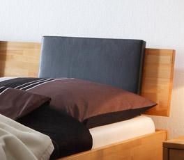 Einsteckkissen Lausanne aus Kunstleder für Bett Luzern