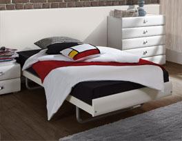 Einzelbett Celaya ist in zahlreichen Holzvarianten vorhanden