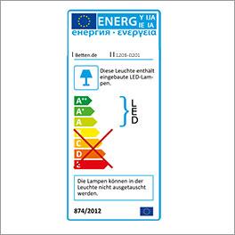 Energielabel vom Bett Moa