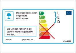 Energieverbrauchskennzeichnung der LED-Scheinwerfer vom Modell Speedfighter