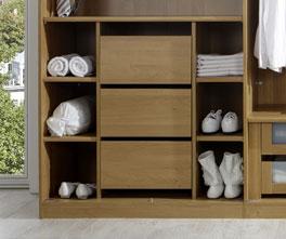 Einbau-Schubkasten mit Schubladen für Falttüren-Kleiderschrank