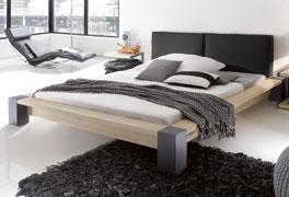 Modernes Futonbett Savena mit 10cm Fusshöhe