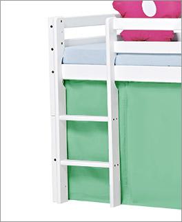 Halbhohes Bett Kids Heaven mit Leiter mit 2 Sprossen