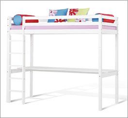 Hochbett Kids Heaven mit Schreibtisch aus massivem Kiefernholz