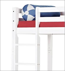 Hochbett Kids Heaven mit Schreibtisch und stabiler Leiter