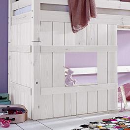 Hütten-Hochbett Kids Paradise für Mädchen mit hochwertiger Holzverkleidung