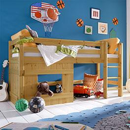 Stabiles und hochwertiges Hütten-Hochbett Kids Paradise für Jungen