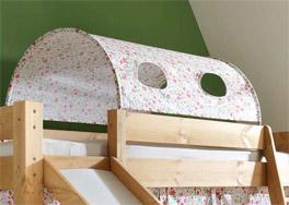 Kids Dreams Mini-Rutschen-Hochbett mit Textil Tunnel