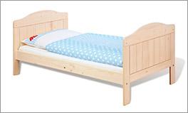 Cremeweißes Kinderbett Finja, zum Juniorbett umbaubar