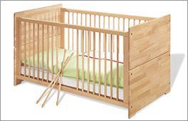 Kinderbett Natura aus massiver Buche
