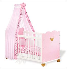 Kinderbett Prinzessin Karolin mit coolem Prinzessinen-Design