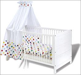 Kinderbett Puro aus Echtholz in Weiß