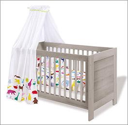 Höhenverstellbares Kinderbett Somnio, umbaubar zum Juniorbett