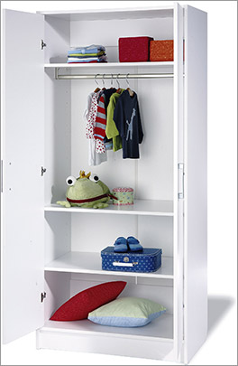 2-türiger Kinderzimmer-Kleiderschrank Viktoria