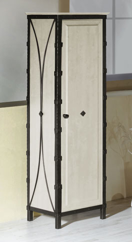 Schmaler Kleiderschrank Arica mit einer Tür
