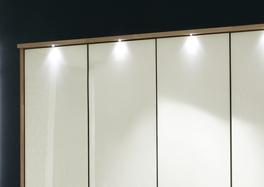 Kleiderschrank Dartford in Magnolie mit Passepartout-Rahmen