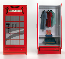 Geräumiger Kleiderschrank Paddington für Kinder und Jugendliche