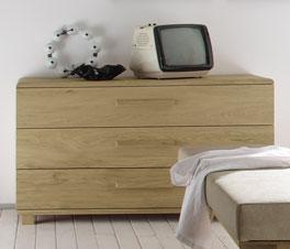 Moderne Kommode Weno mit 3 Schubladen