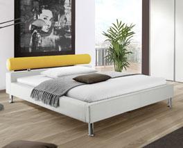 Stabiles und robustes Bett Basildon aus Kunstleder