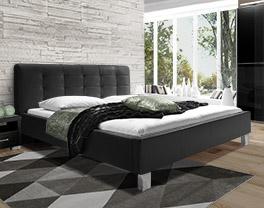 Modernes Bett Kennington aus hochwertigem Kunstleder
