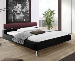 Modernes und stilvolles Kunstlederbett Basildon