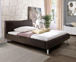 Kunstleder-Bett Dudley erhältlich ab Bettgröße 140x200cm