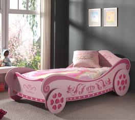 Robustes Kutschenbett Pink Heart für Mädchen