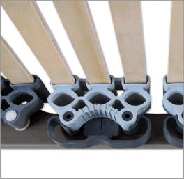 Lattenrost orthowell ultraflex mit flexibel gelagerten Leisten