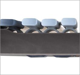 Lattenrost orthowell ultraflex mit guter Federwirkung dank überlappender Kappen