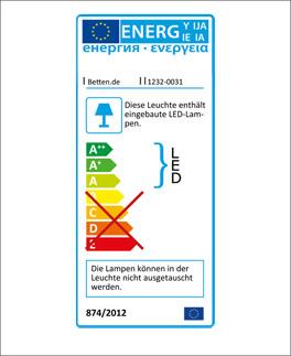 Energieverbrauchkennzeichnung der LED-Stableuchte