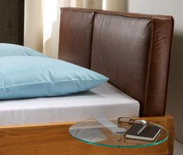 Lederkopfteil vom Bett Siero in Used Optik