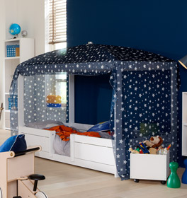 LIFETIME Kinderbett 4-in-1 inklusive schönem Baldachin