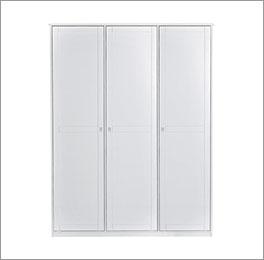 3-türiger Kleiderschrank von Lifetime aus Holz in weiß
