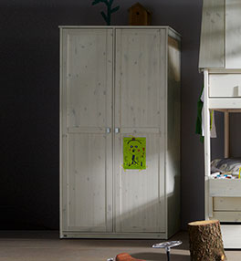 Lifetime Kleiderschrank aus Massivholz mit Soft-Close