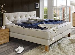 Hochwertiges Luxusbett Cantabria mit geteilter Box