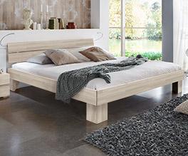 Hochwertiges Massivholzbett Maidstone in Buche weiß