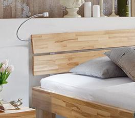 Massivholzbett Lucca Komfort mit Kopfteil