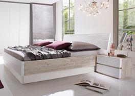 Hochwertiges Massivholz-Bett Padua aus Akazie in Weiß