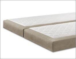 Hochwertiger Matratzenbezug mit Stoffeinsatz aus Luxus-Kunstleder