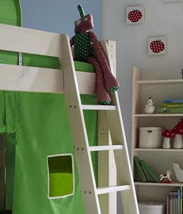 Midi-Hochbett Kids Dreams mit stabiler Leiter