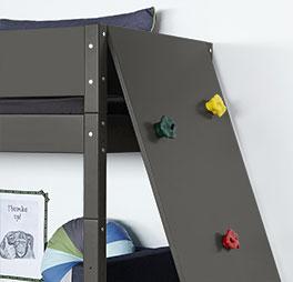 Midi-Hochbett Kids-Town mit Kletterwand zum Spielen