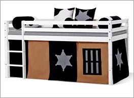 Mini-Hochbett Cowboy inklusive Umbaumöglichkeit zum niedrigen Bett