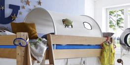 Mini-Hochbett Kids Fantasy mit Spieltunnel als optionales Zubehör