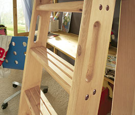Mini-Hochbett Kids Paradise mit Leiter für sicheren Halt