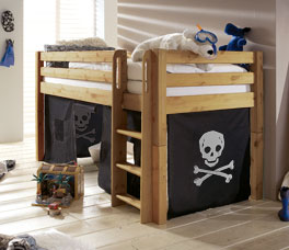 mini hochbett mit rutsche t v gepr ft kids paradise. Black Bedroom Furniture Sets. Home Design Ideas