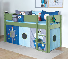 TÜV geprüftes Mini-Hochbett Kids Town Color