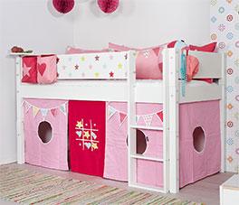 Stabiles Mini-Hochbett Kids Town Sterne aus MDF
