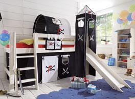 Mini-Hochbett Seeräuber ist umbaubar zum niedrigen Jugendbett