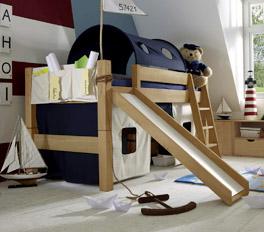 Mini-Rutschen-Hochbett Kids Fantasy Spielplatz